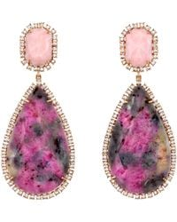 Irene Neuwirth | Pink Opal Diamond Drop Earrings | Lyst