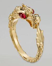 John Hardy | Metallic Batu Naga 18k Gold Slim Ring | Lyst