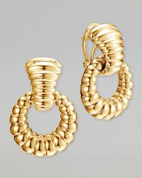 John Hardy - Metallic Bedeg 18k Gold Door-knocker Earrings - Lyst