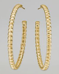 John Hardy | Metallic Bedeg 18k Gold Medium Hoop Earrings | Lyst