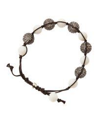 Tai | Black Beaded Pave Cubic Zirconia Bracelet | Lyst