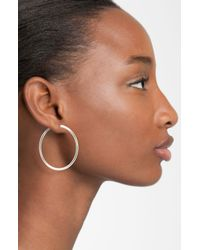 Anne Klein | Metallic Large Hoop Earrings | Lyst