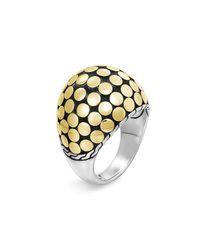 John Hardy   Metallic Dot Gold Dome Ring   Lyst
