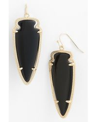 Kendra Scott | Black Skylar Spear Statement Earrings | Lyst