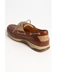 Sperry Top-Sider | Brown 'gold Billfish 3-eye' Boat Shoe for Men | Lyst
