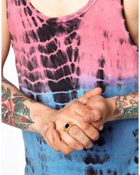 ASOS | Metallic Skool Ov Jenius By Lovebullets Onyx Stone Ring Exclusive To for Men | Lyst