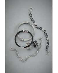 Charriol | Metallic Mixed Modern Diamond Station Cable Bracelet | Lyst