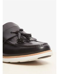 Cole Haan - Black Lunargrand Tassel Leather Shoes - Lyst