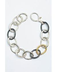 Gurhan | Metallic Hoopla Oval Link Bracelet | Lyst
