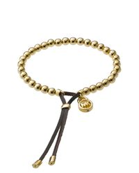 MICHAEL Michael Kors | Metallic Michael Kors Beaded Stretch Bracelet | Lyst