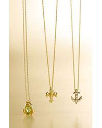 Roberto Coin | Yellow 'tiny Treasures' Fleur De Lis Necklace | Lyst