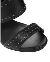 ASOS - Black Trouble Studded Shoe Boots - Lyst
