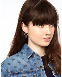 ASOS - Metallic Gem Nose Or Ear Cuff Pack - Lyst