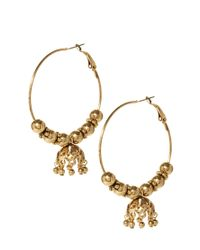 ASOS | Metallic Hoop Bell Earring | Lyst
