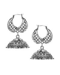 ASOS - Metallic Double Bell Earring - Lyst