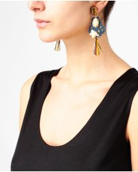 Dolce & Gabbana - Multicolor Embellished Lace Earrings - Lyst