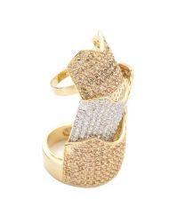 Eddie Borgo - Metallic Pave Two Tone Hinged Plate Ring - Lyst