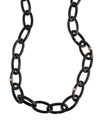 Federica Rettore - Black Wood Link Necklace - Lyst