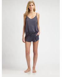 Hanro - Gray Polly Short Jumpsuit - Lyst