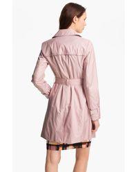 Ivanka Trump | Pink Pleat Trim Trench Coat  | Lyst