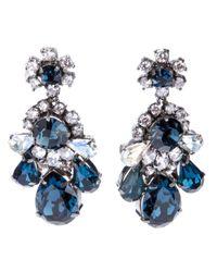 Shourouk | Blue Crystal Earring | Lyst