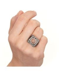 Solange Azagury-Partridge | White Skeleton Square Ring | Lyst