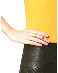 Annelise Michelson | Metallic Gold Plated Carnivore Ring | Lyst