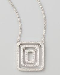 Mimi So | Metallic Piece 18k White Gold Diamond Pendant Necklace | Lyst