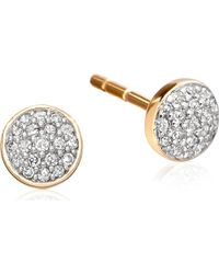 Astley Clarke - Metallic A Little Muse 14ct Gold Diamond Stud Earrings - Lyst