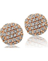 Astley Clarke | Pink Pillow Rose Gold and Diamond Stud Earrings | Lyst