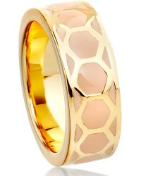 Astley Clarke | Metallic Honeycomb Stacking Ring | Lyst