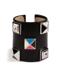 Delfina Delettrez - Black Studded Leather Cuff - Lyst