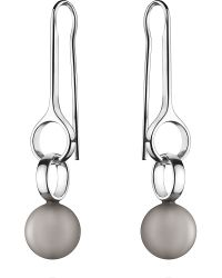 Georg Jensen | Metallic Sphere Sterling Silver and Moonstone Large Drop Earrings 45cm Moonstone | Lyst