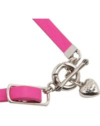 Juicy Couture - Pink Triple Wrap Bracelet - Lyst