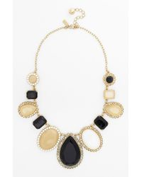 kate spade new york | Metallic Run Around Framed Stone Statement Necklace | Lyst