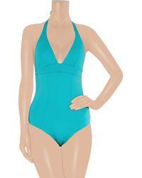 Violet Lake | Blue Vesper Halterneck Swimsuit | Lyst