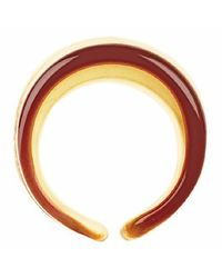 Antica Murrina - Metallic Cuba Amber and White Murano Glass Fashion Ring - Lyst