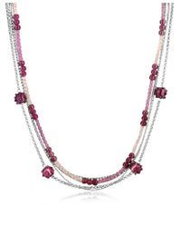 Antica Murrina - Purple Tiffany Murano Glass Bead Chain Necklace - Lyst
