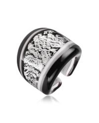 Antica Murrina | Cuba Black and White Murano Glass Ring | Lyst