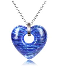 Antica Murrina | Blue Heartbeat Murano Glass Heart Necklace | Lyst