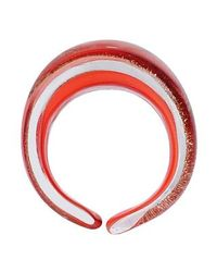 Antica Murrina - Red Laguna Coral Gold Murano Glass Ring - Lyst