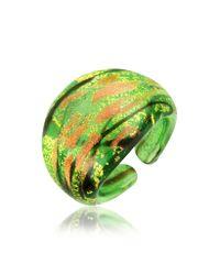 Antica Murrina - Green Laguna Murano Glass Ring - Lyst