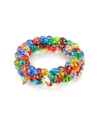 Antica Murrina | Multicolor Rubik - Murano Glass Drops Stretch Bracelet | Lyst