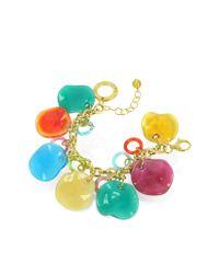Antica Murrina - Multicolor Shiva - Murano Glass Charm Bracelet - Lyst