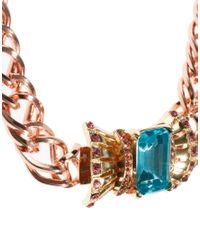 ASOS - Pink Bow Front Clasp Necklace - Lyst