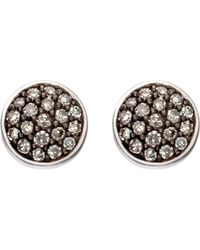 Astley Clarke - Gray A Little Muse 14ct White Gold Diamond Stud Earrings - Lyst