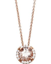 Astley Clarke | Pink 14ct Rose Gold Morganite Pendant Necklace | Lyst
