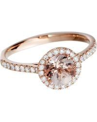 Astley Clarke | 14ct Rose Gold Morganite Ring Rose Gold Pink | Lyst