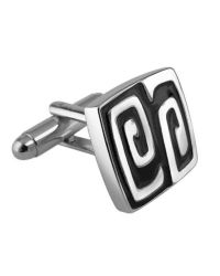AZ Collection - Metallic Silver Plated Square Deco Cufflinks for Men - Lyst