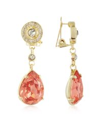 AZ Collection - Orange Clip-on Drop Earrings - Lyst